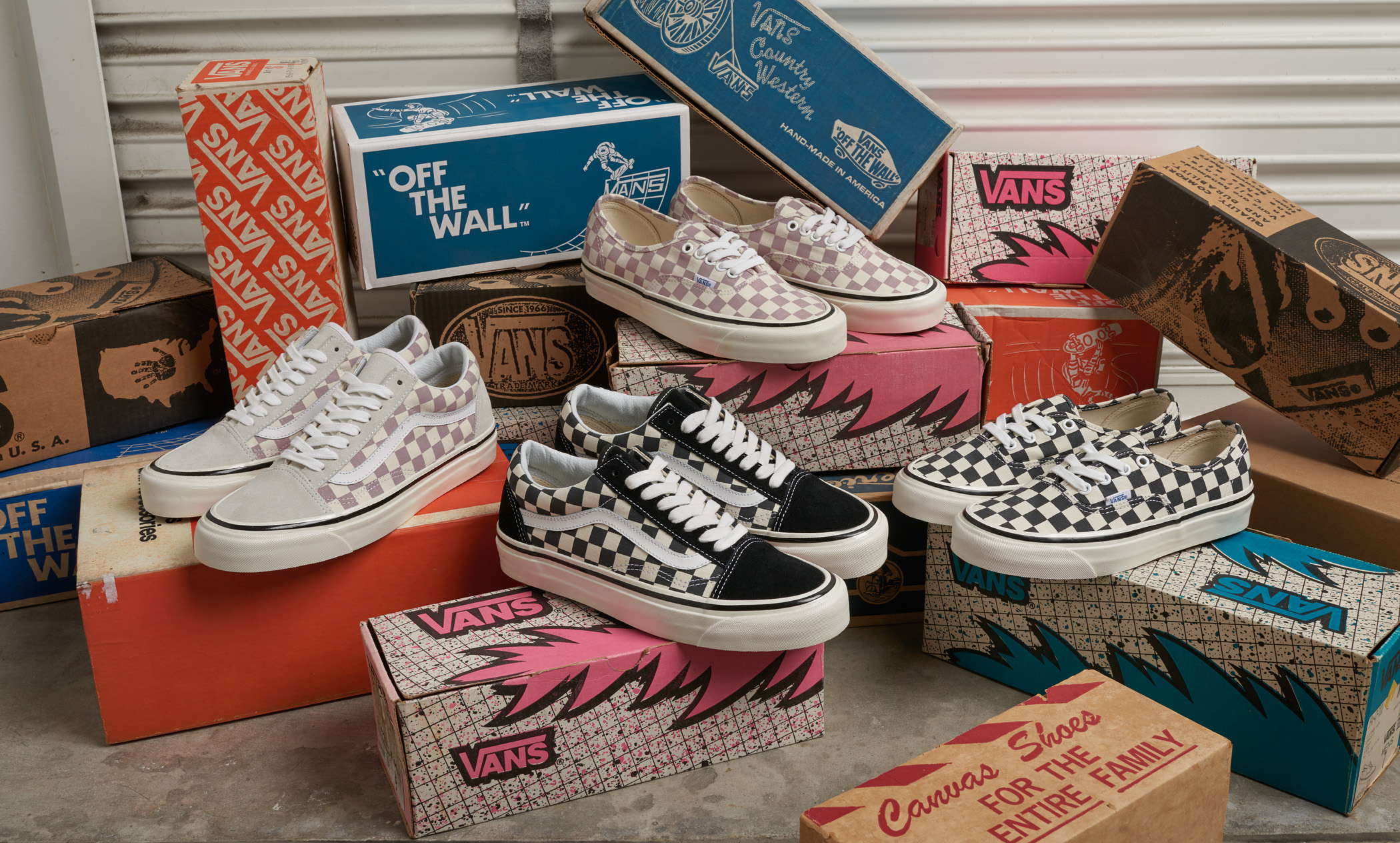 VANS ANAHEIM FACTORY PACK RETURNS FEATURING ICONIC CHECKERBOARD DESIGN
