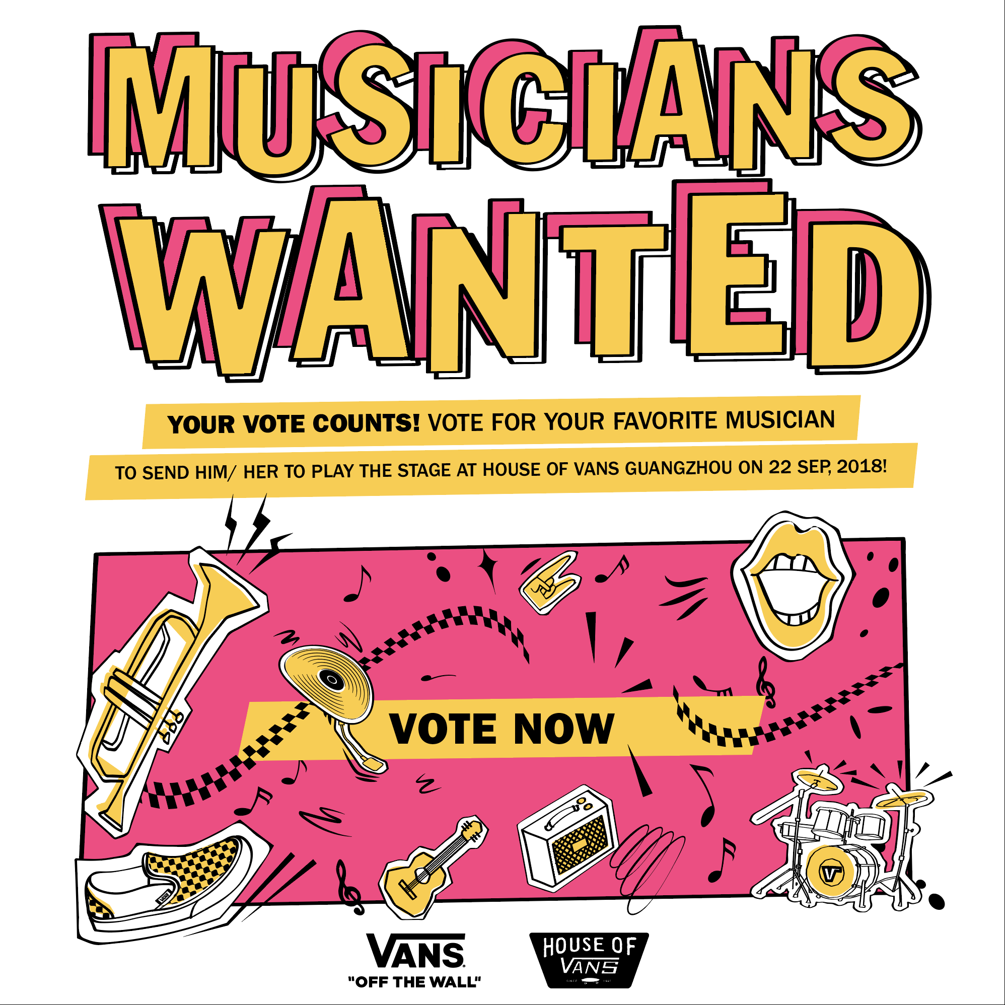 2018 VANS MUSICIANS WANTED HAS ARRIVED AT THE FINAL STAGE