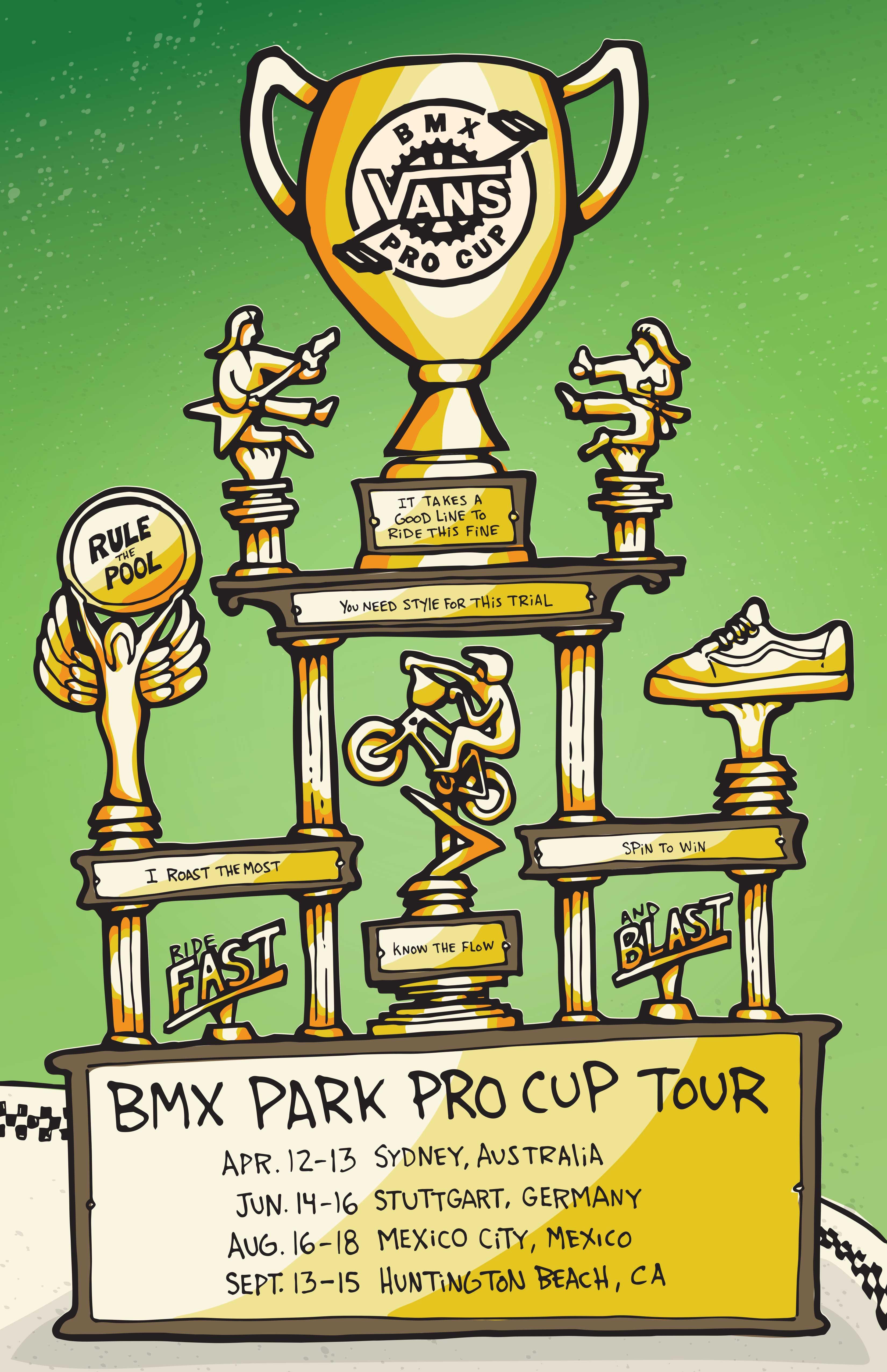 VANS BMX PRO CUP SERIES ANNOUNCES 2019 PRO TOUR SCHEDULE