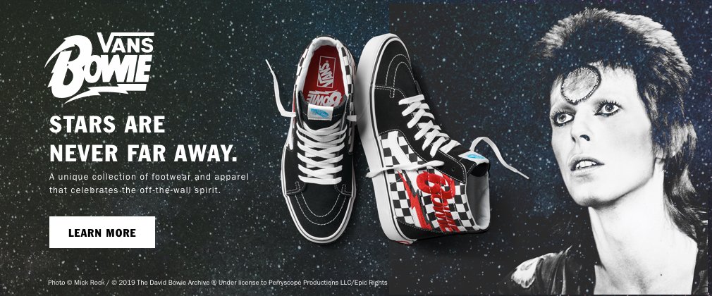 VANS HONORS THE LEGACY OF DAVID BOWIE WITH FOOTWEAR AND APPAREL COLLECTION