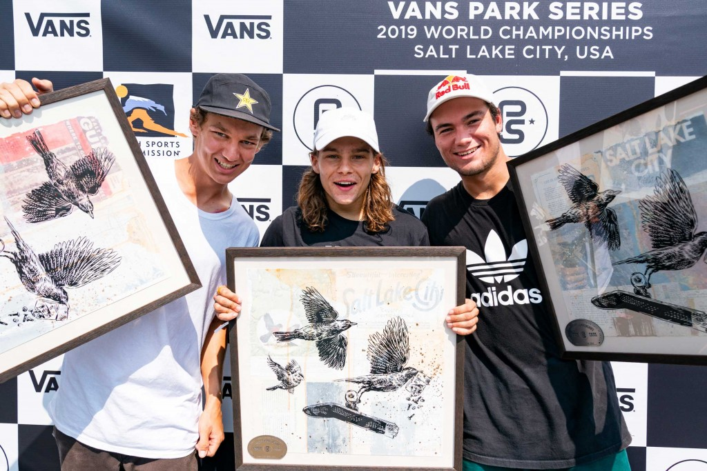3rd Tristan Rennie, 1st Oskar Rozenberg Hallberg, 2nd Alex Sorgente