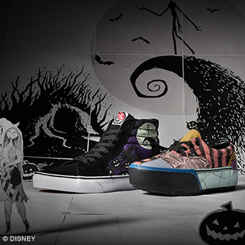 "VANS DEBUTS COLLECTION DEDICATED TO DISNEY TIM BURTON'S ""THE NIGHTMARE BEFORE CHRISTMAS"""