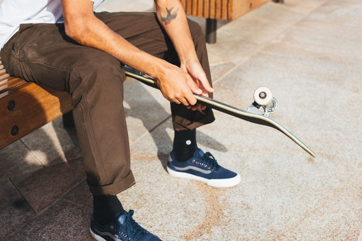 /></p> <p>Purposefully designed for maximum skate-ability from the inside, out, the Authentic Chino Glide Pro features an innovative, silky-smooth interior construction juxtaposed with a rugged exterior.</p> <p>Vans is elevating a workwear staple for Holiday 2019 with the new Authentic Chino Glide Pro. Known for its durable, design-driven apparel, Vans returns with a rugged, classic style that's been built for mobility and to withstand the abuse of skaters day-in and day-out, without compromising style in the process. <img src=