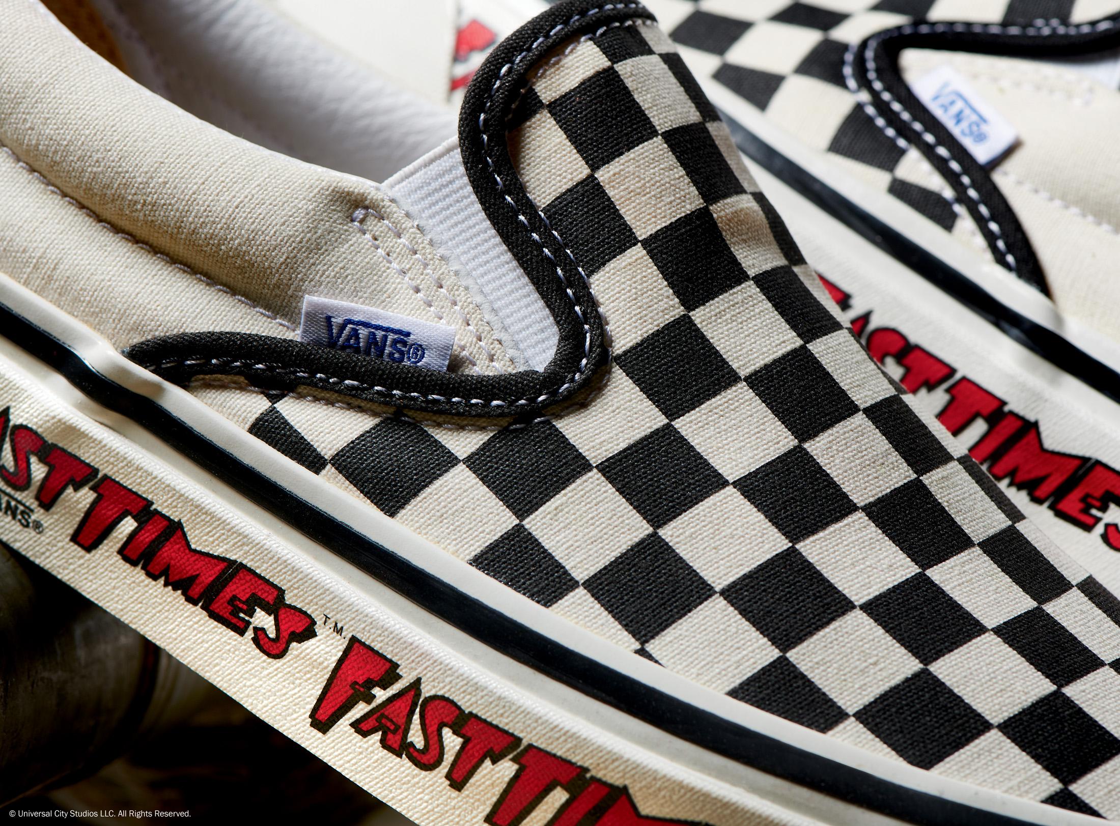 vans slip on checkerboard style